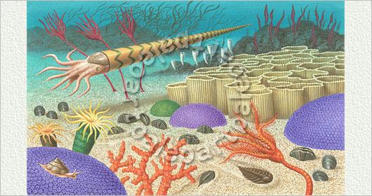 シルル紀の日本の海の生物 90-04...